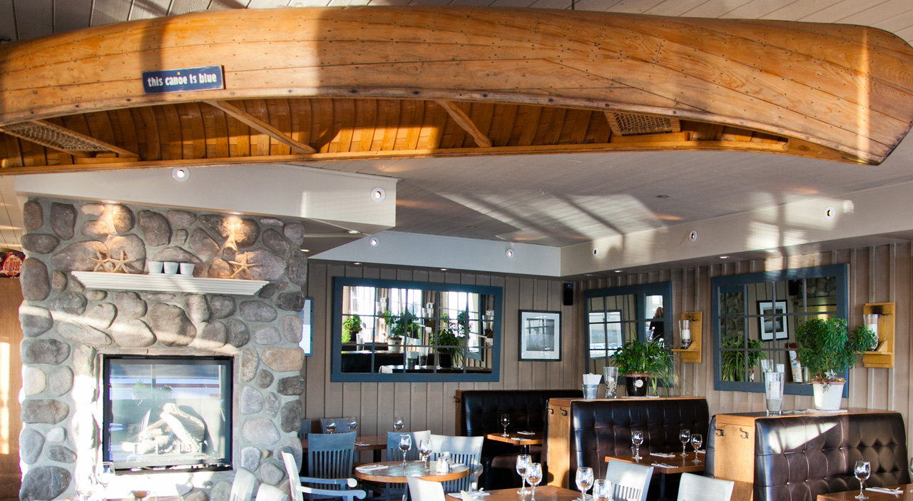 Inside the Blue Canoe Restaurant